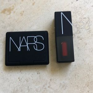 NARS travel bronzer and lip pigment lipstick 💄